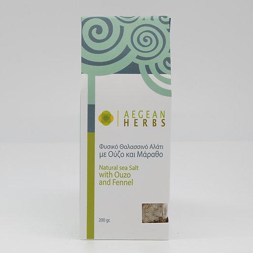 Naturmeersalz mit Ouzo und Fenchelgrün 200g