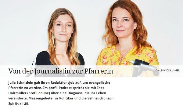 Profil Podcast mit Julia Schnizlein