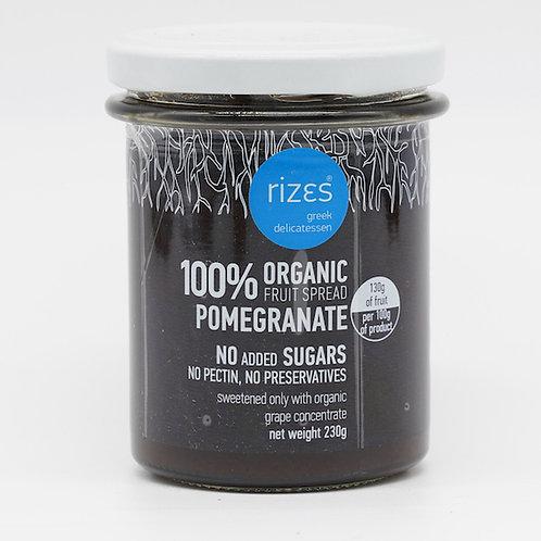 biologische Granatapfelmarmelade 76% Frucht 230g