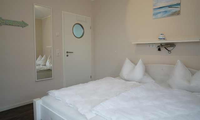 Schlafzimmer für 2 in der Ferienwohung Villa Küstenhus