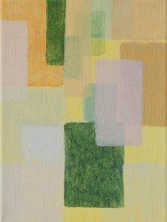 Komposition mit Lila-Weiß und Terre Verte - Eveline Aberer-Grass