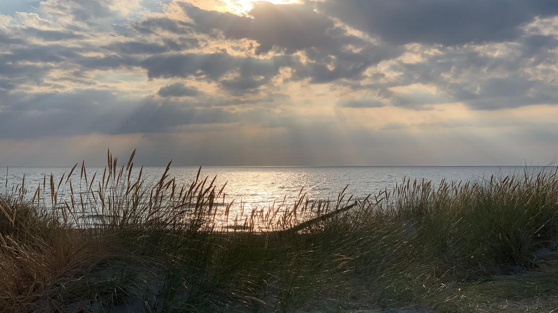 Sonnenuntergang in Lancken