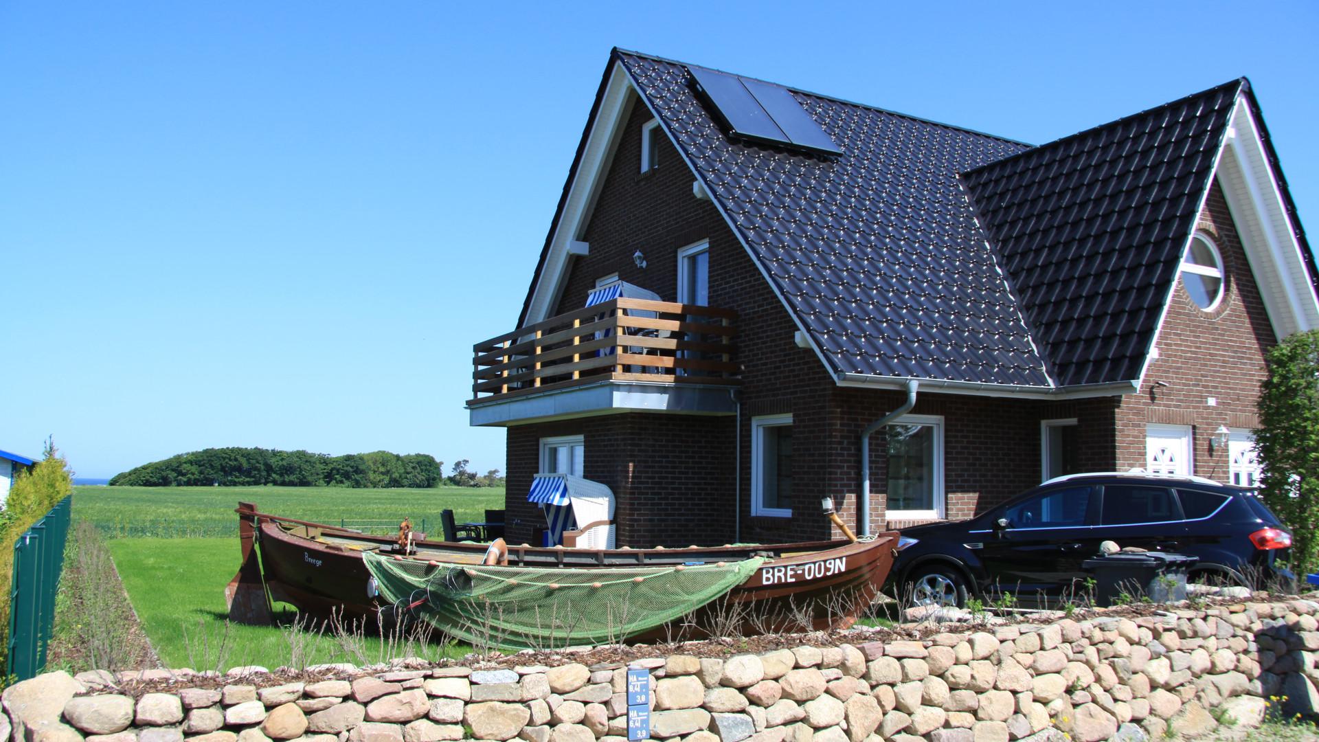 Aussenansicht der Urlaubswohnung in Dranske auf Rügen