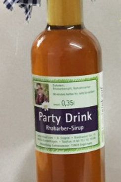ANGEBOT Party Drink - Rhabarber-Sirup 2 x 0,35 l - hausgemacht