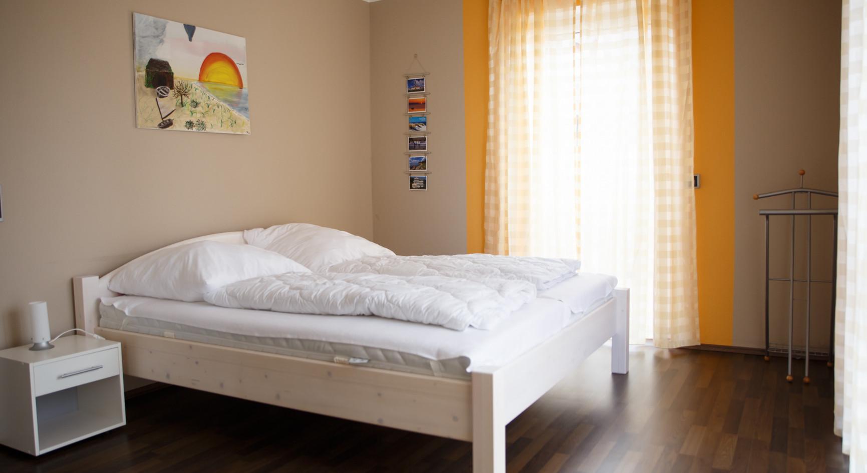 Schlafzimmer der Fährstube in der Ferienwohnung auf Rügen