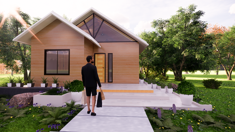 DESIGN 1 35m2 SERENA   1 Bed 1 Bath(Non Exposed Rafters)