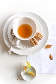 Tea and Chocolate Macarons