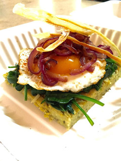 jap sweet pot and hemp polenta breakfast