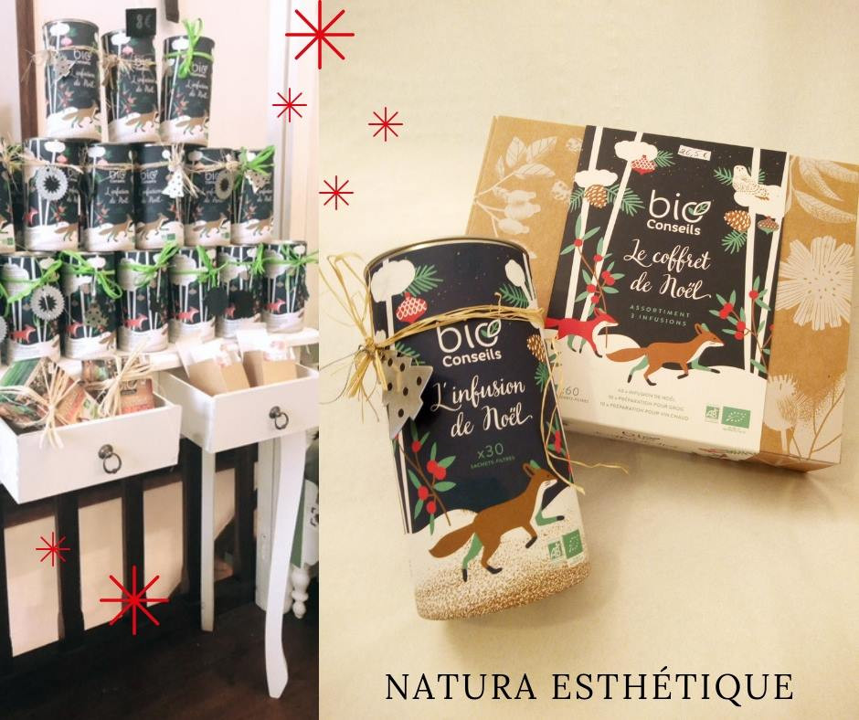 Coffrets de Noel tisanes bio chez Natura Esthétique