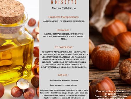 Huile de Noisette / un jour une huile