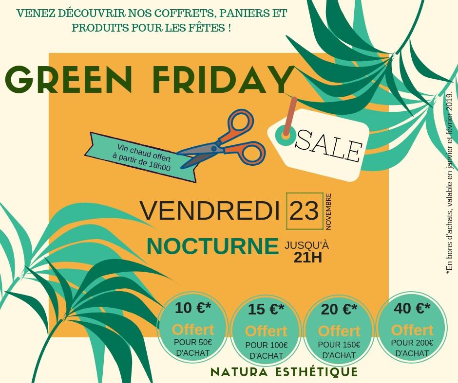 Black Friday chez Natura Esthétique