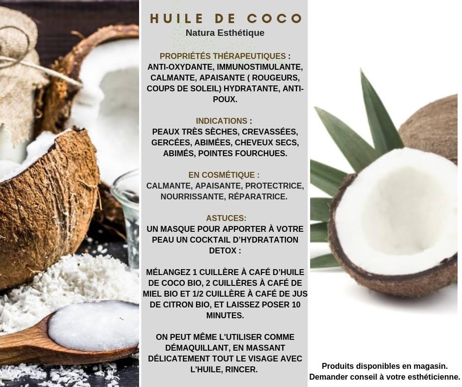 Natura Esthétique Huile de Coco