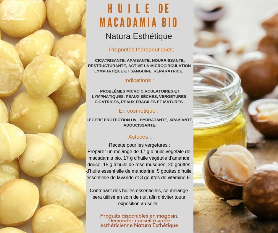 Huile de Macadamia bio Natura Esthétique