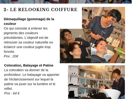 2. Le relooking coiffure