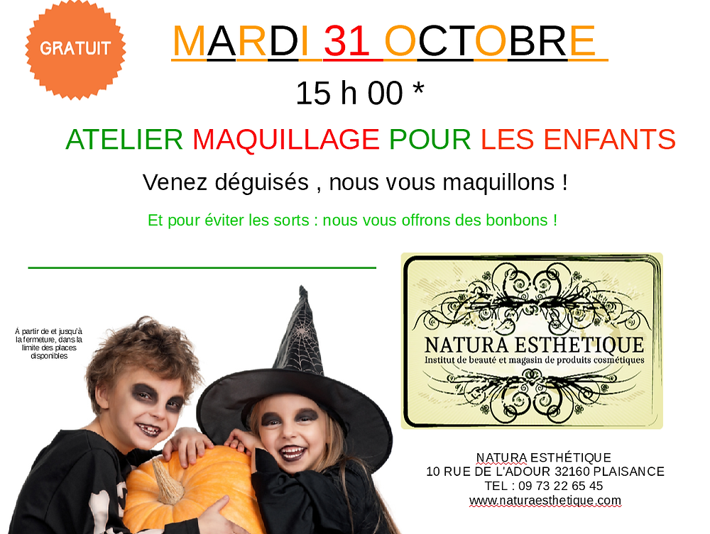maquillages enfants halloween
