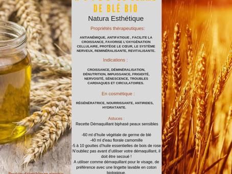 Huile de Germe de blé bio / un jour une huile.