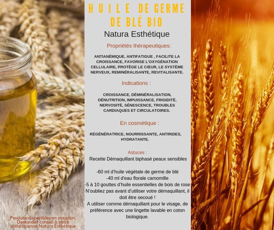 huile de germe de blé bio Natura Esthétique