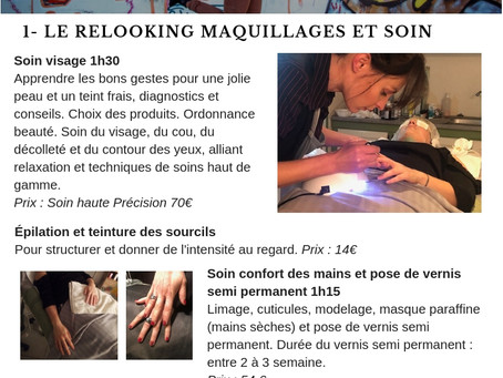 1. Le relooking maquillages et soin