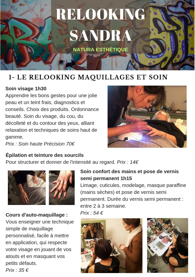 relooking maquillage et soin
