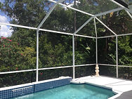 For pool cage, lanai or front entryway rescreen or screen repair, Sunview recommends 18x14 mesh screen material.