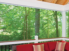 For lanai , patio or pool cage near wooded areas or waterways, Sunview recommends no-seeum mesh screen material to help keep those bugs out.