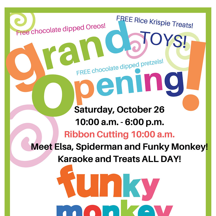 Funky Monkey Greenwich Ave, Grand Opening & Ribbon-Cutting