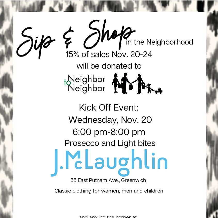 J. McLaughlin & Navy Lobster Sip & Shop in the Neighborhood Kick Off Event