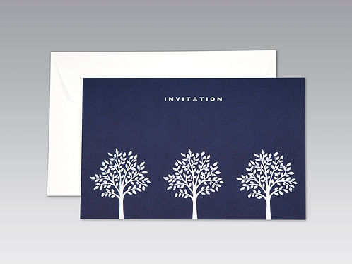 WINTER TREES INVITATION (8 pack)