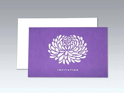 CHRYSANTHEMUM INVITATION (8 pack)