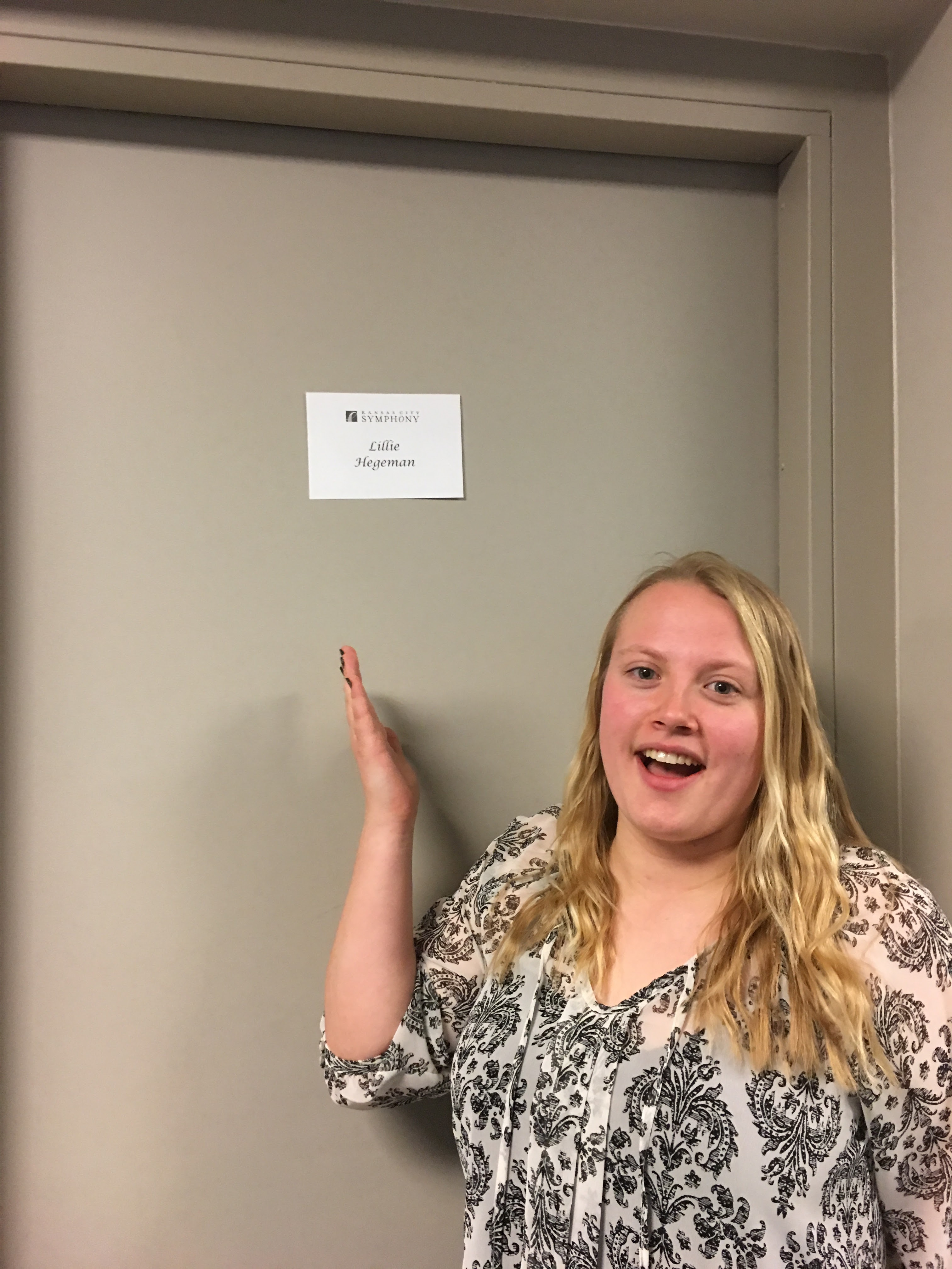 Her own dressing room!