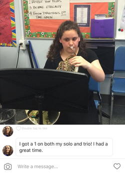 Amy at Solo and Ensemble Festival