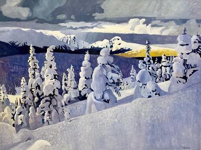 """Hill Climb""  36"" x 48"" Oil on Canvas  Mark Tworow  SOLD"