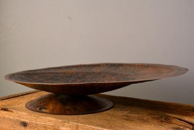 """""""Fruit Bowl""""  16 w x 16 d x 3.5 h   Copper  Brandon Zimmerman"""