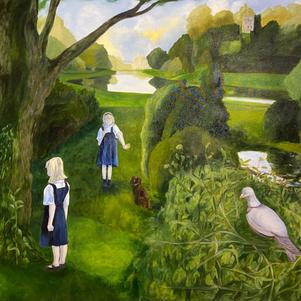 "Fountains Abbey 60"" x 48"" Oil on Canvas $1200"