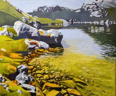 """Alpine Tarn""  40"" x 48"" Oil on Canvas   Mark Tworow  SOLD"