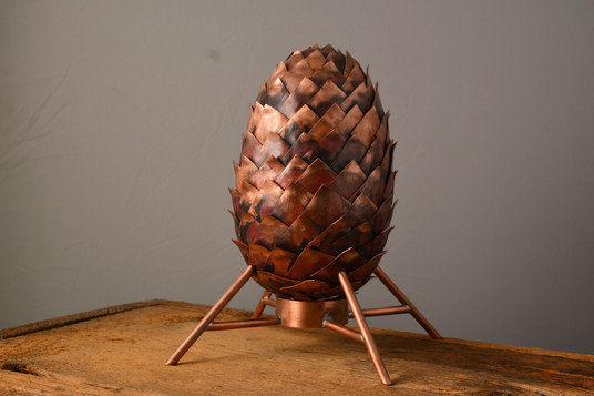 """The Egg""  5 w x 5 d x 8 h  Copper  Brandon Zimmerman"