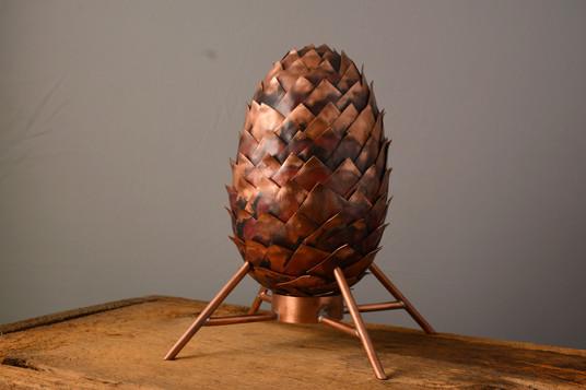 """The Egg""  5 w x 5 d x 8 h  Copper  Brandon Zimmerman"