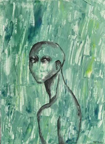 """Tiffani Grelson 'Shell' 9"""" x 13"""" acrylic on canvas"""