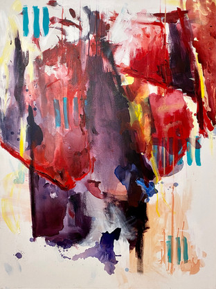 """ALLOCATION""  36"" x 48"" Acrylic on Canvas  Emily Klaassen"