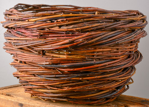 Rope Coil Basket with Plain Willow  Anneh Kessels