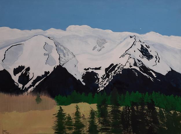 "Jaycee Hodson 'Mountain Glacier' 17"" x 24"" acrylic on canvas"