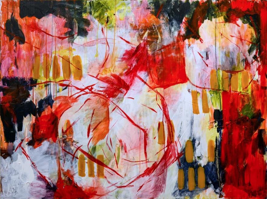 "UNTITLED   36"" x 48"" Acrylic on Canvas  Emily Klaassen"