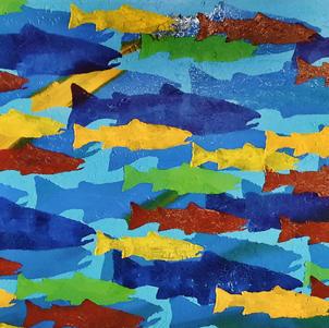 "The Great Return 48"" x 24"" Acrylic on Canvas $1300"