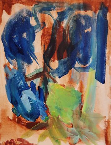 Madison Zacharias 'Untitled' acrylic on canvas