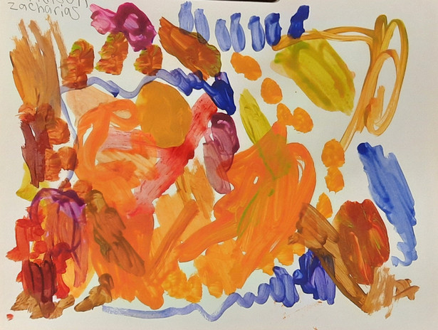 "Madison Zacharias 'Untitled' 11"" x 8.5"" acrylic on paper"