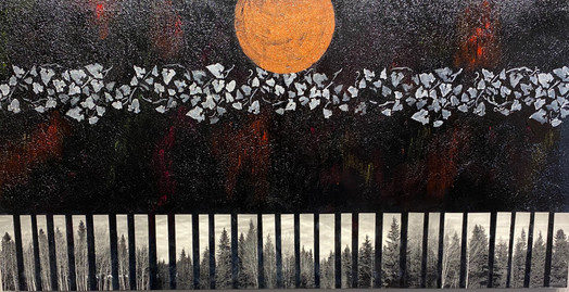 """""""Believe in Going Back""""  30"""" x 60"""" Acrylic on Canvas  Perry Rath"""