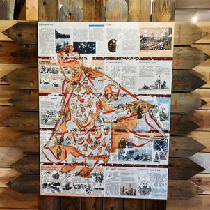 "History Lessons (Mavis) 58"" x 70"" Acrylic on Panel NFS"