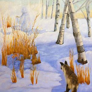 "Encounter 36"" x 40"" Oil on Canvas $900"