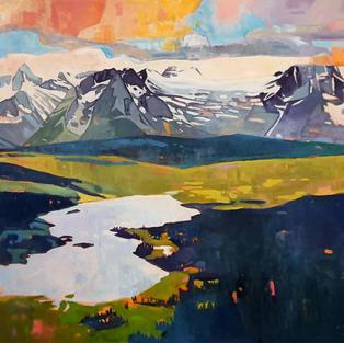 Burnie Lake 40 x 48 oil on canvas $1650