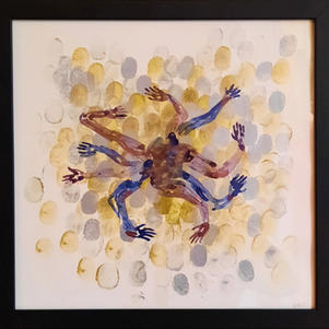 """Pandemic Experience 2 12"""" x 12"""" Watercolour on Paper $200"""